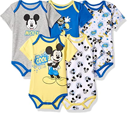 NEW Disney Baby Boy Mickey Mouse Short Sleeve Cotton Shoulder Bodysuit 24M Green