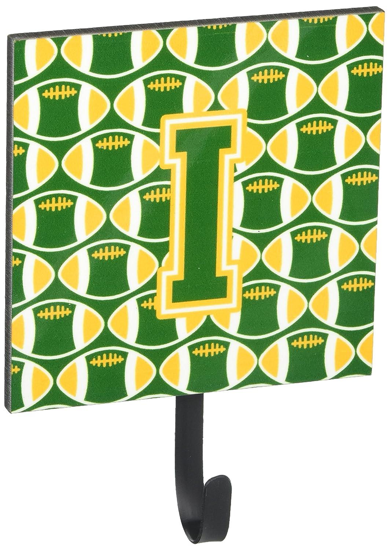 Carolines Treasures Letter I Football Green and Gold Leash or Key Holder CJ1069-ISH4 Small Multicolor