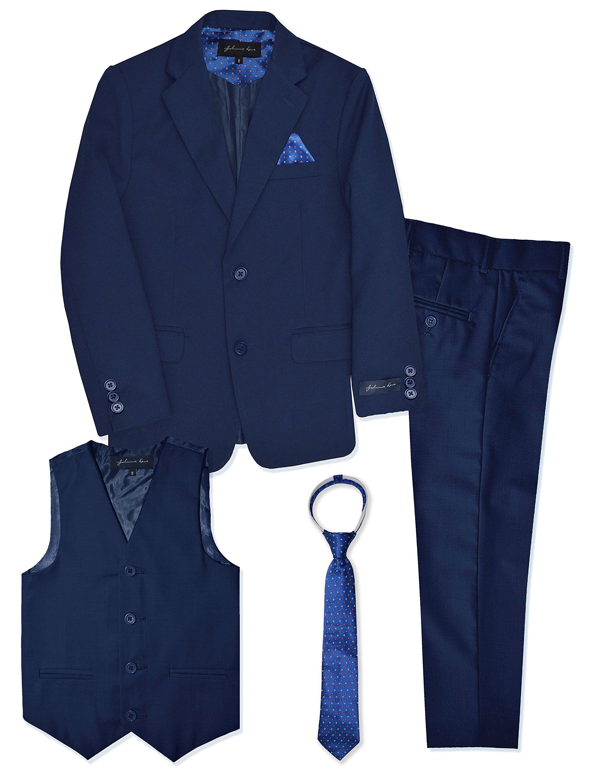 Boys Formal Dresswear Suit Set #JL48 (6, Royal Blue)