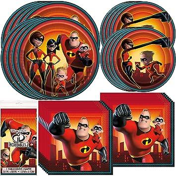 Amazon.com: Unique Incredibles - Juego de 2 vajillas con ...