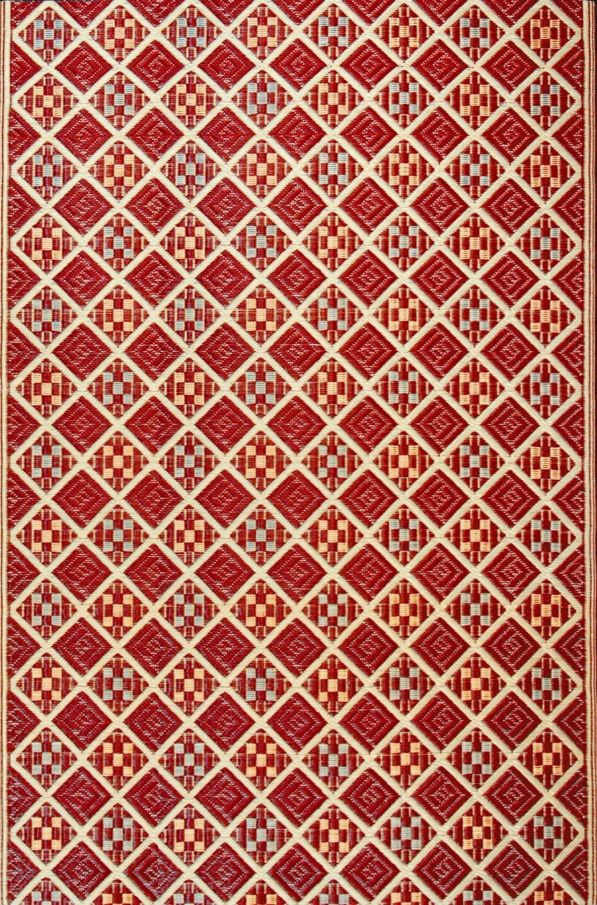 Mad Mats Scotch Indoor/Outdoor Floor Mat, 5 by 8-Feet, Cranberry