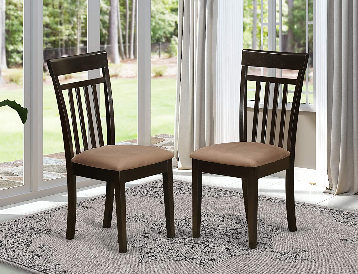 Boston X-Back dining chair with Faux Leather Upholstered Seat