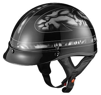 GLX cascos casco de calavera motocicleta mitad