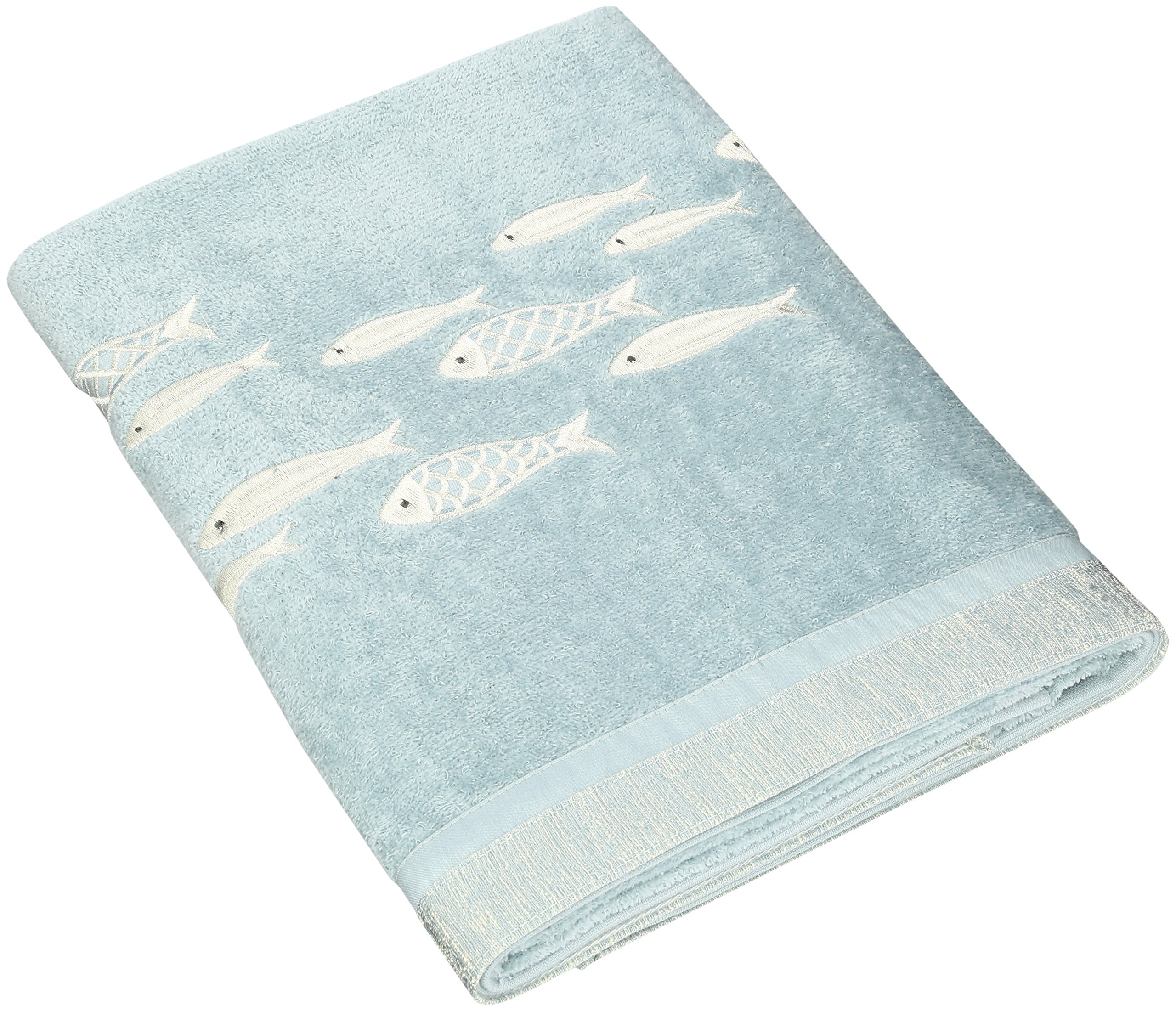 Avanti Linens Nantucket Bath Towel, Mineral - 100-Percent cotton exclusive of the embellishments Made in North America Decorative bath accessories - bathroom-linens, bathroom, bath-towels - 91OxgdfPdxL -