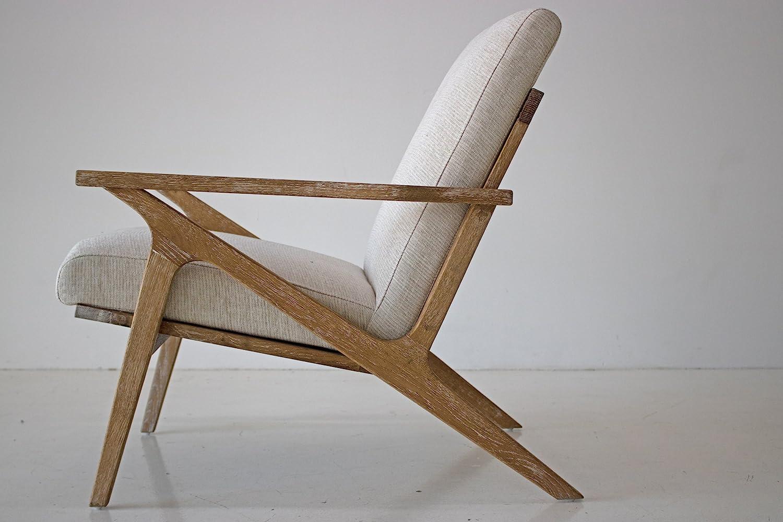 Edloe Finch EF-Z4-LC005W Soren Mid-Century Modern Accent Lounge Chair for Living Room Swan White