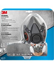 3M Half Facepiece Reusable Respirator All-in-One Kit, Paint Project, L (1 Mask, 1-pair Cartridges, 2-pair Filters and 1-pair Retainers)