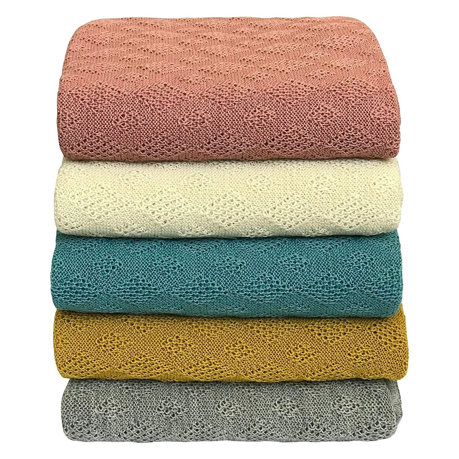 Washable Merino Wool Receiving Thermal Blanket 31x40 inches Baby Warm Blanket