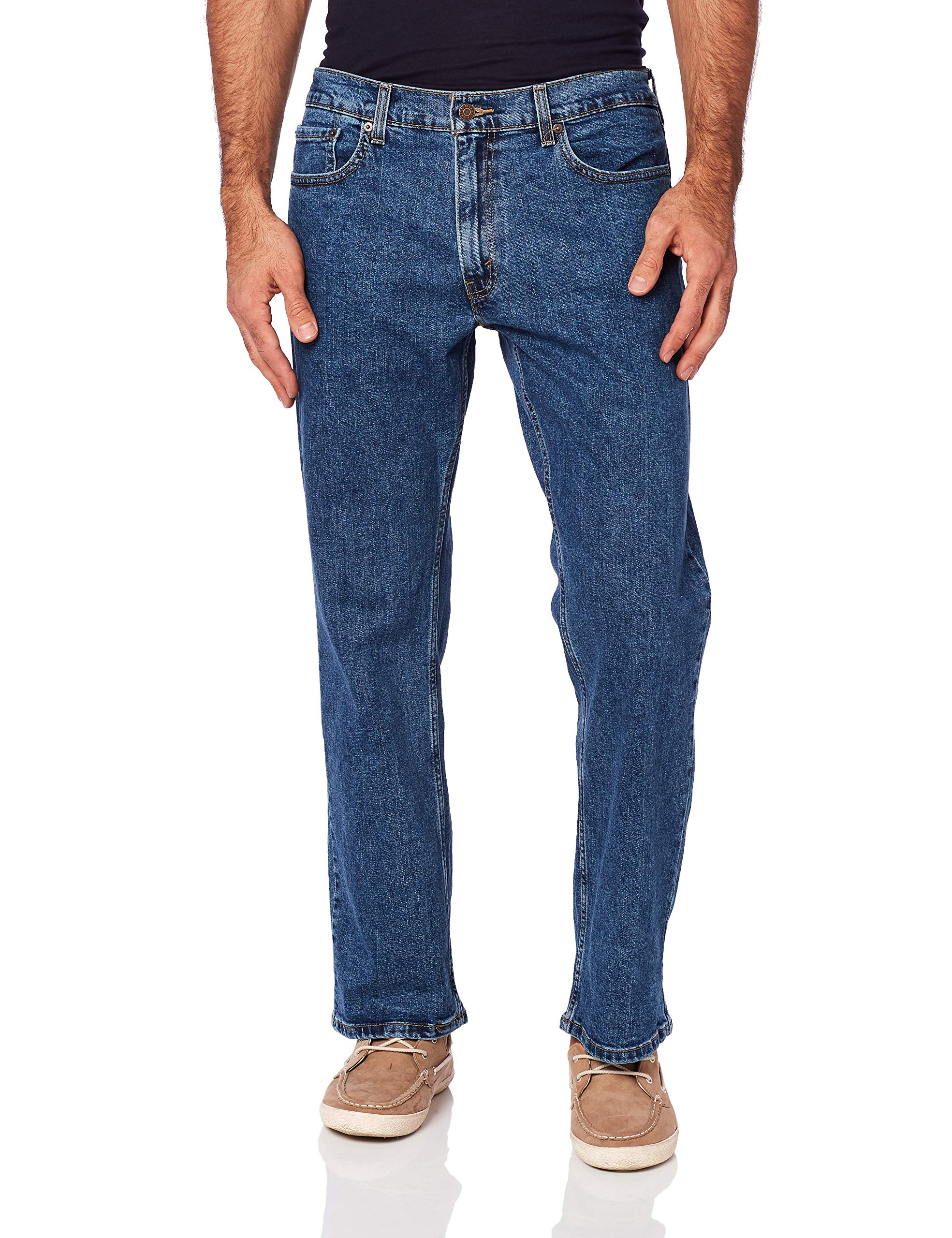 Signature by Levi Strauss & Co Men's Relaxed Jean, Medium Indigo, 36x32 by Signature by Levi Strauss & Co. Gold Label