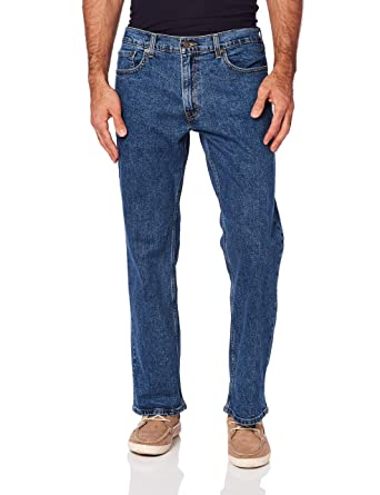 183b5b6bfce Signature by Levi Strauss & Co Men's Relaxed Fit Jeans, Medium Indigo, ...