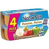 Nestlé Bébé Naturnes Pommes Poires - Compote dès 4 - 6 Mois - 4 x 130g - Lot de 3