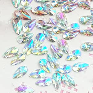 8x13mm Teardrop AB Acrylic Special Effect Rhinestones FlatBackship with Samples from GreatDeal68 (Crystal AB)