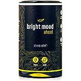 BRIGHT MOOD ahead | Natürlicher Stimmungsaufheller mit Vitamin B6 für mehr Ausgeglichenheit und Wohlbefinden* | L-Tryptophan, 5-HTP, Reishi, B12 | | 90 vegane Kapseln