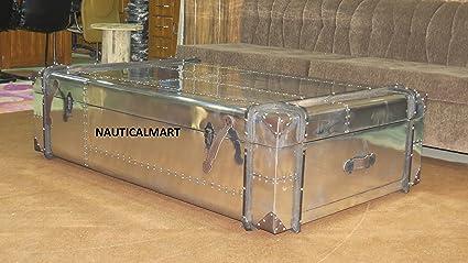 Tremendous Amazon Com Nauticalmart Richards Aluminum Trunk Coffee Pdpeps Interior Chair Design Pdpepsorg