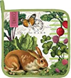 Michel Design Works Cotton Potholder, Garden Bunny