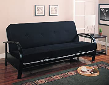 Medium image of coaster home furnishings transitional futon frame black