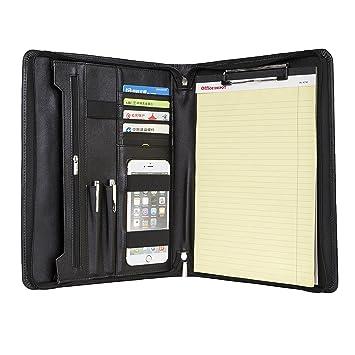 Professional Padfolio Cuero Genuino Organizador Compacto ...