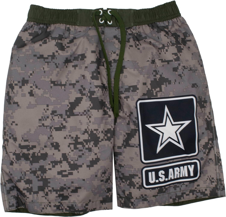 U S Army Crest Mens Swim Trunks Board Shorts