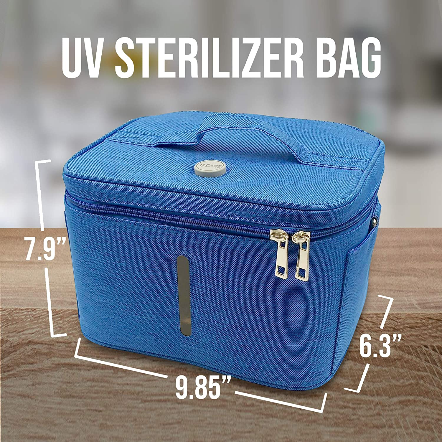 Smartphones Ozone Technology Perfect for Masks Keys Nuvitamed Glasses UVC Sterilizer Lamp Eliminates 99.9/% of Viruses and Bacteria Designed in Italy Portable UV Sterilizer Bag