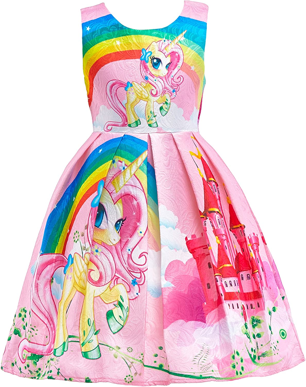 Dressy Daisy Girls Dress Costumes Rainbow Unicorn Costumes Fancy Dress up