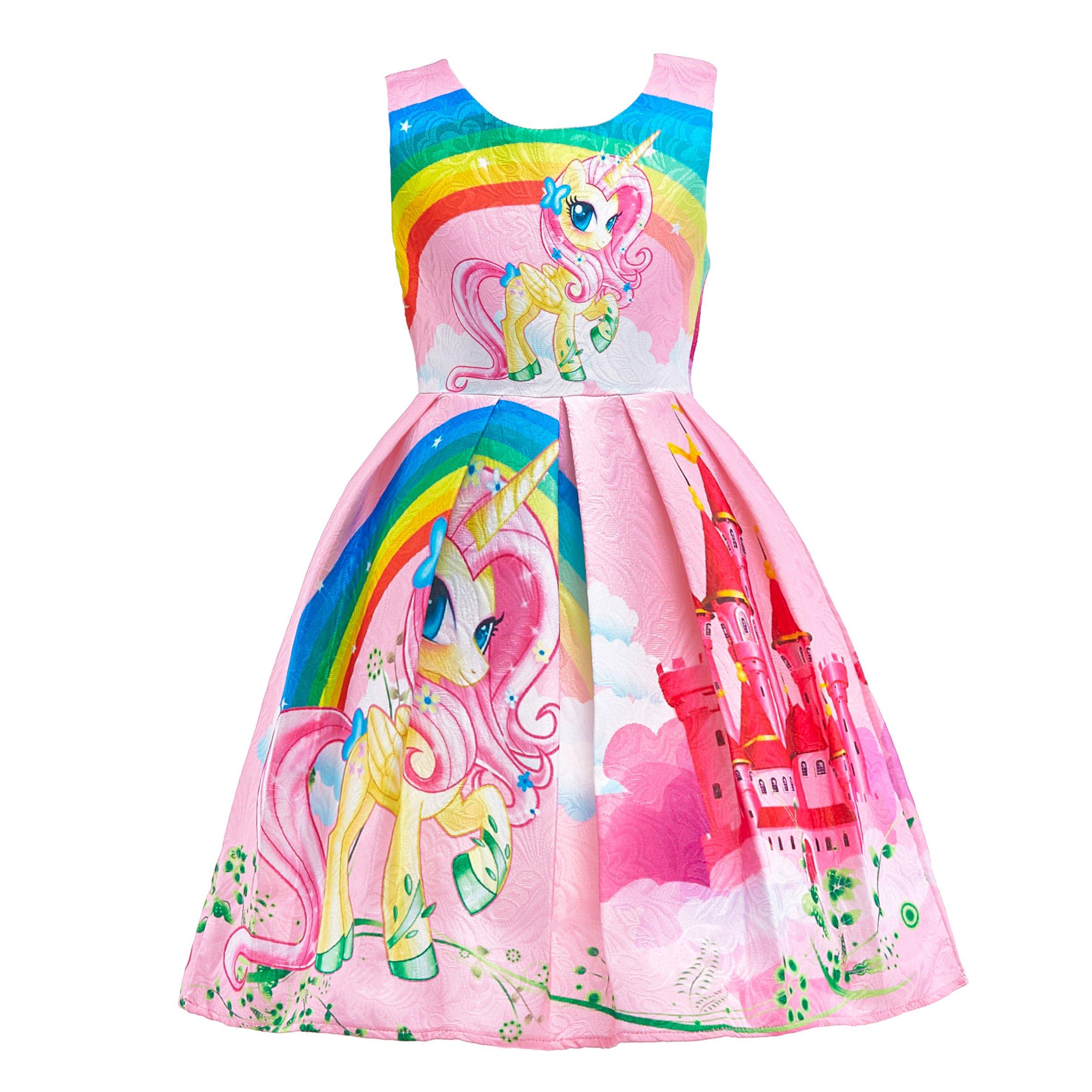 Dressy Daisy Girls My Little Pony Dress Costumes Unicorn Costumes Fancy Dress up Size 6 Pink FC127