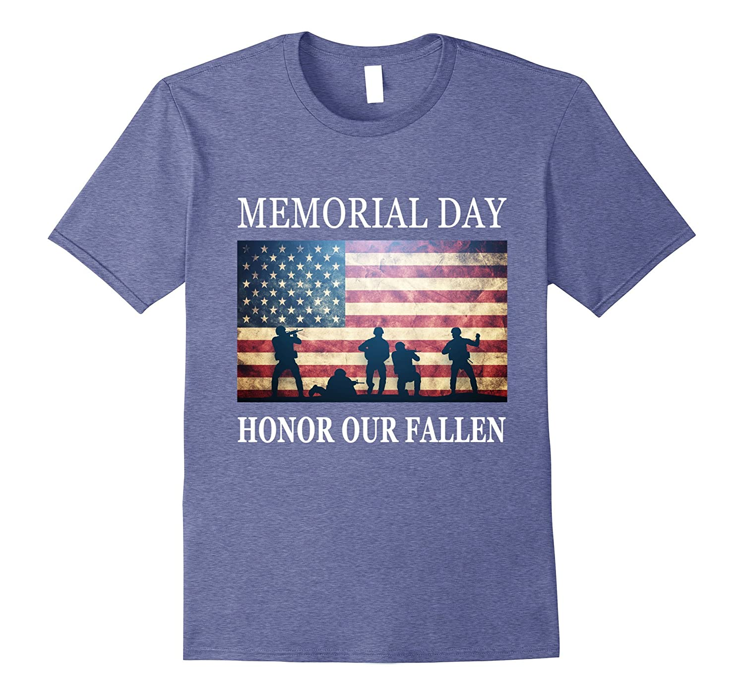 Honor Our Fallen - Soldiers Military Memorial Day T-Shirt-Art