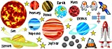 Planets Solar System with stars removable and