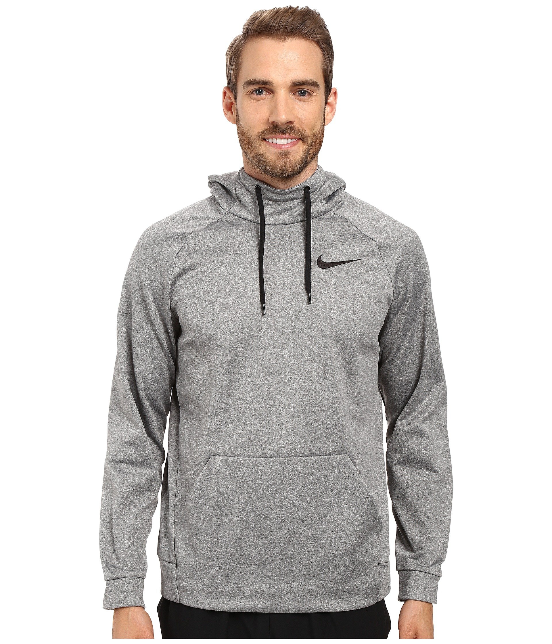 Nike Men's Therma Training Hoodie Carbon Heather/Black Size Large by Nike