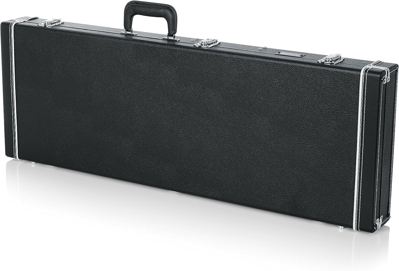 Gator gw-335-brown Semi-Hollow caso de madera para Guitarra eléctrica, Negro