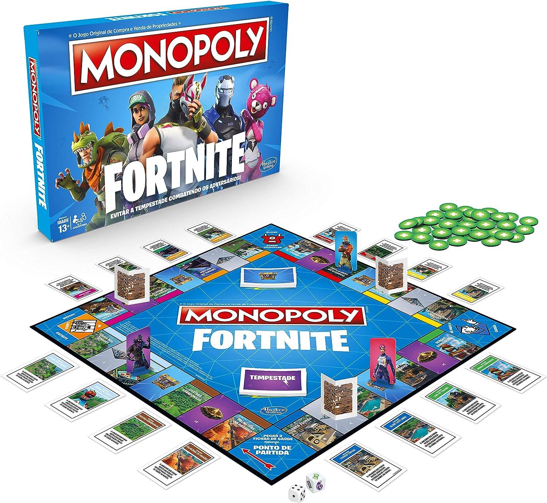 Jogo Monopoly Fortnite - Jogo de Tabuleiro Inspirado no Videogame Fortnite - E6603 - Hasbro