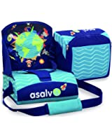 Asalvo 14009 - Trona de viaje, diseño niños del mundo, color  azul
