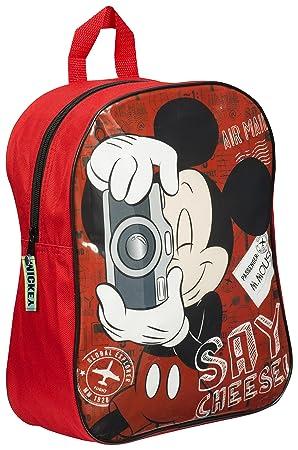 Disney Kids niños Escuela Mochila Mochila Mickey Mouse 32x26x10 cms: Amazon.es: Equipaje