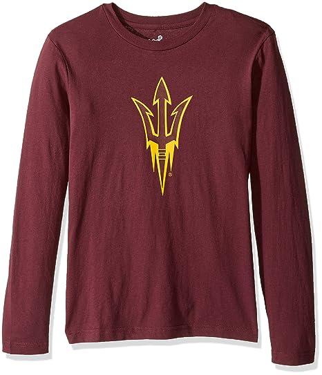 5672e8ac751a Outerstuff NCAA Youth Boys Team Logo Long Sleeve Tee, Classic Maroon,  Medium (10