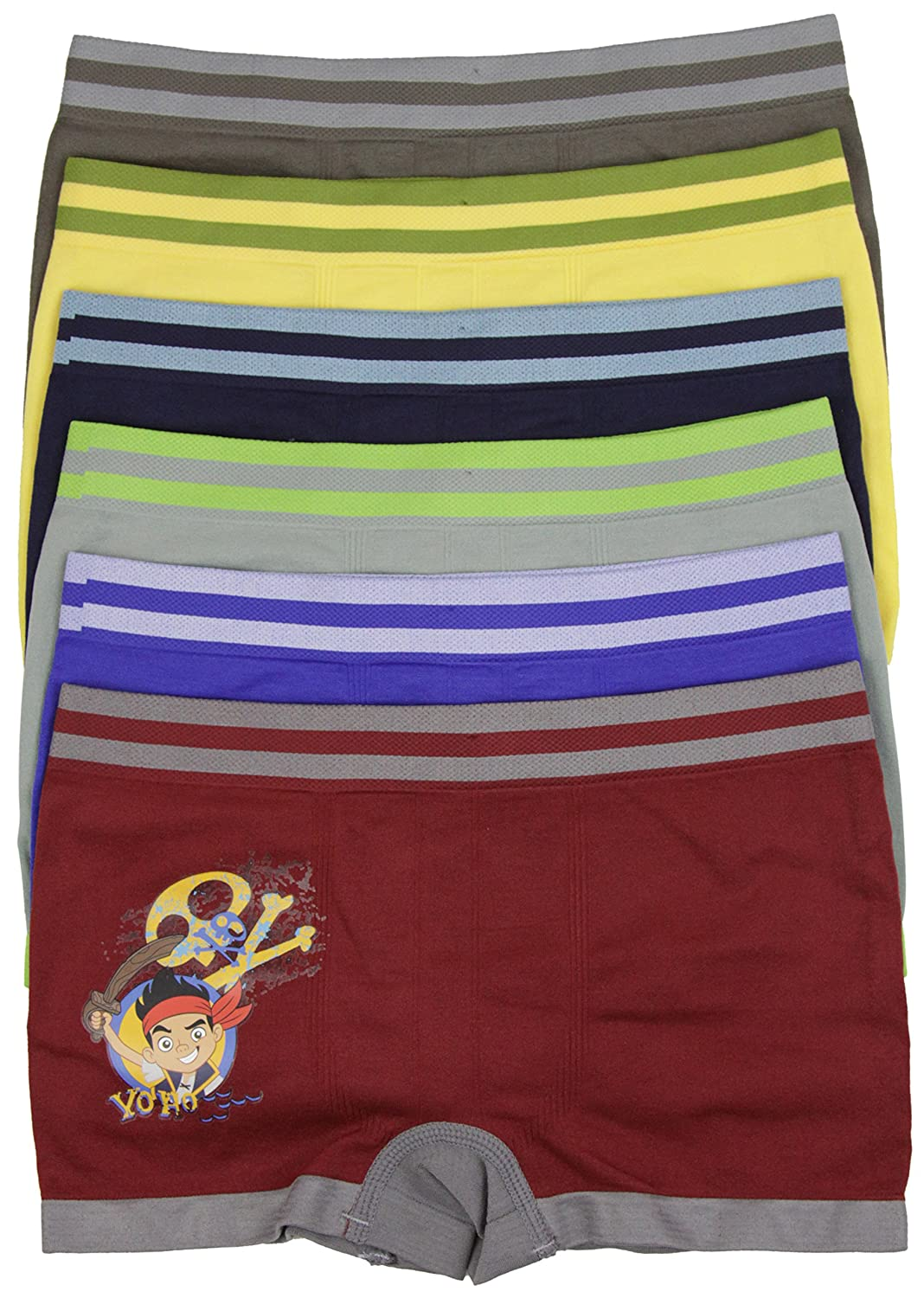 ToBeInStyle Boys Pack of 6 Seamless Boxer Briefs Pirate Boy