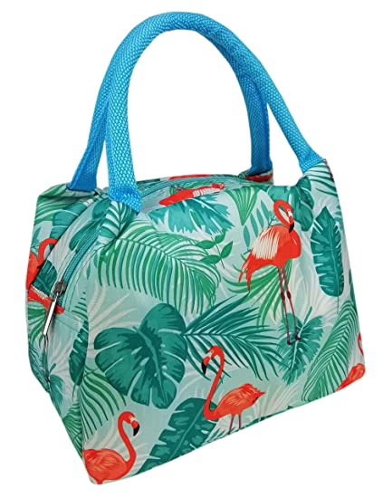 Girl School Lunch Bag Flamingo Tote Thermal Waterproof Lunchbox Oxford Picnic