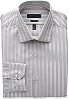 Perry Ellis Collection Men's Slim Fit Stripe Non-Iron Dress Shirt, Rose/Gray Stripe