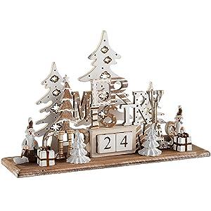 21 cm WeRChristmas Pre-Lit Santa Flickering Fireplace Scene Christmas Decoration Multi-Colour
