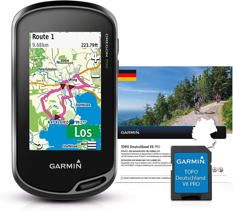 Garmin – Sistema de navegación GPS de Mano Oregon 700, 0.211, Color Negro, con Topo Germany V8 Pro