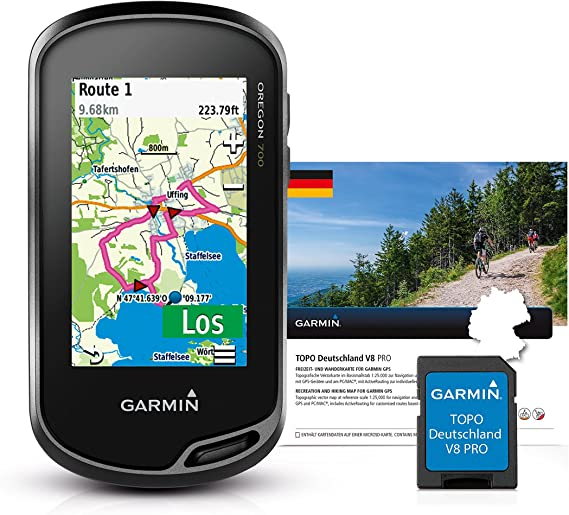 Garmin Oregon 700 Gps Handgerät Topo Deutschland V8 Pro Integriertes Wlan Aktivitätsprofile Geocaching Live Sport Freizeit