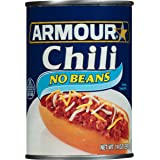 Armour Star Chili with No Beans, Canned Food, 14 OZ