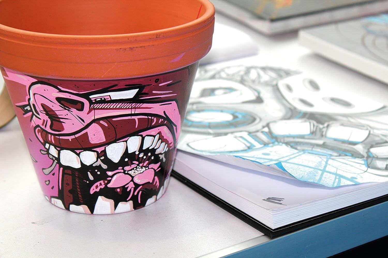 10 St/ück sortiert Basic Set 1, 2mm Spitze, hochdeckend und permanent, UV-best/ändig, f/ür fast alle Untergr/ünde Molotow One4All 127HS Acryl Marker