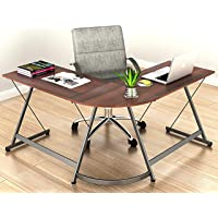 Le Crozz SHW L-Shape Corner Computer Gaming Desk Table