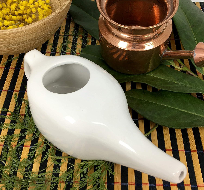 Neti Pot Antibact/érien en cuivre de tradition ayurv/édique pour l/'irrigation et le lavage nasal Neti Lota Dispositif M/édical Format moyen 200 ml
