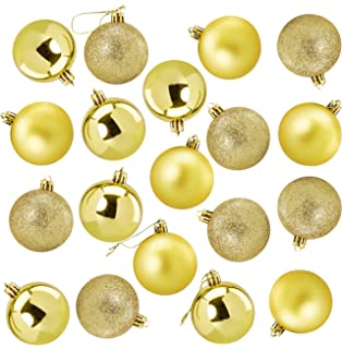 48 x CHAMPAGNE GOLD shatterproof Christmas tree Baubles Mixed finish Small 3cm