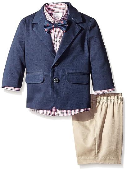 4cd7ca3ad9be Amazon.com  IZOD Baby Boys  4-Piece Suit Set with Dress Shirt