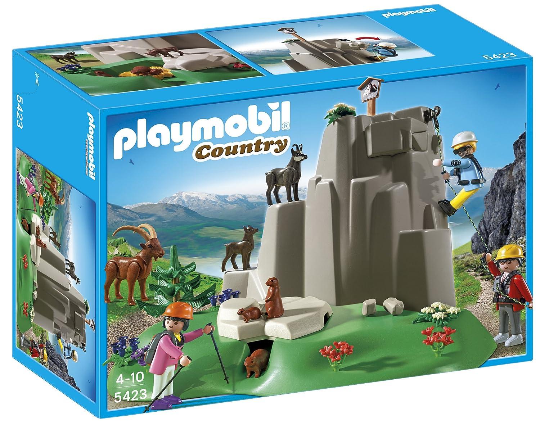 Playmobil Vida en la Montaña - Escaladores con animales de montaña (5423): Amazon.es: Juguetes y juegos