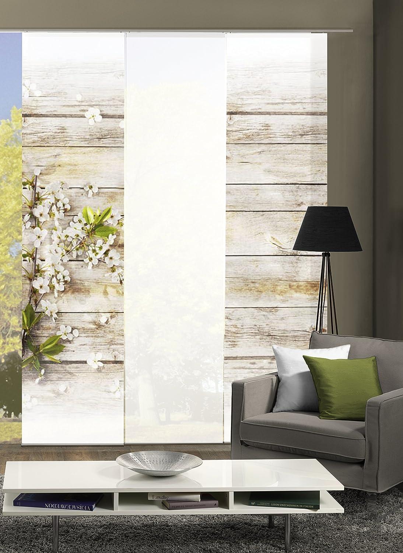 Abitiamo 3er-Set Flächenvorhang Lucca, 88893-768, bestehend aus Motiv- und Uni-Flächenvorhängen   je 245x60 cm