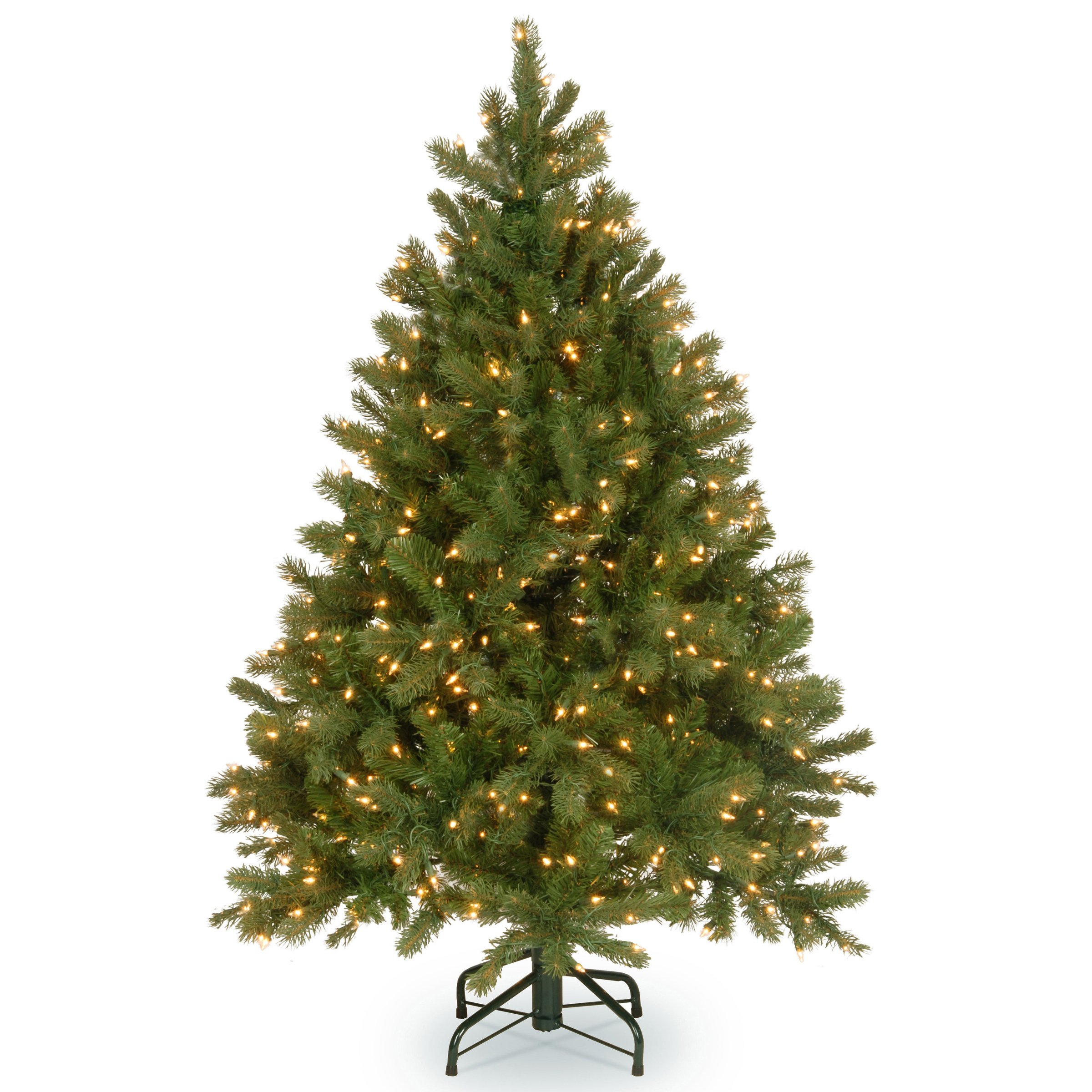 National Tree 4.5 Foot ''Feel Real'' Downswept Douglas Fir Tree with 450 Clear Lights, Hinged (PEDD1-312-45)
