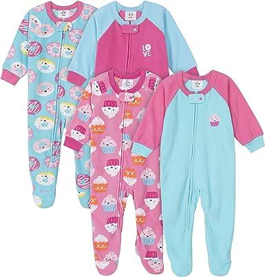 Amazon.com: Gerber Baby Girls' 4-Pack Blanket Sleeper: Clothing