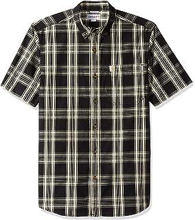 8de86b8f406 Carhartt Men s Essential Plaid Button Down Collar Short Sleeve Shirt ...