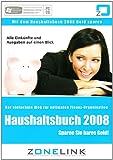 Haushaltsbuch 2008 CD-Rom für Windows Vista, XP, 2000, ME, 98